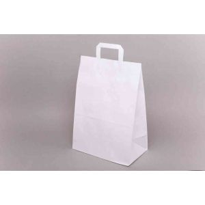 Papírová taška plochým uchem 320x120x400