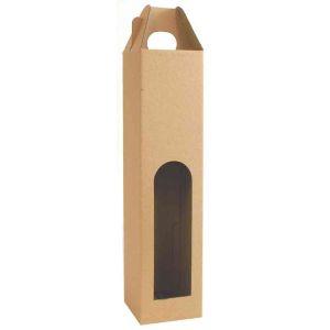 Skládaná krabice na 1 láhev 80x80x330