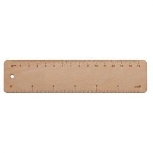 Dřevěné pravítko 15 cm - Simler